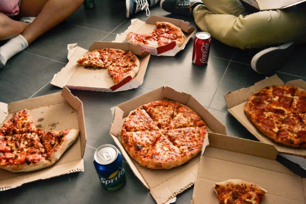 zamówiona pizza